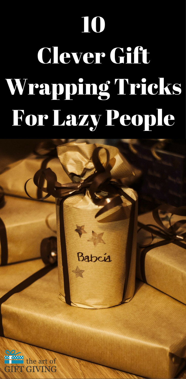10 Clever Gift Wrapping Tricks For Lazy People   Clever, Christmas ...