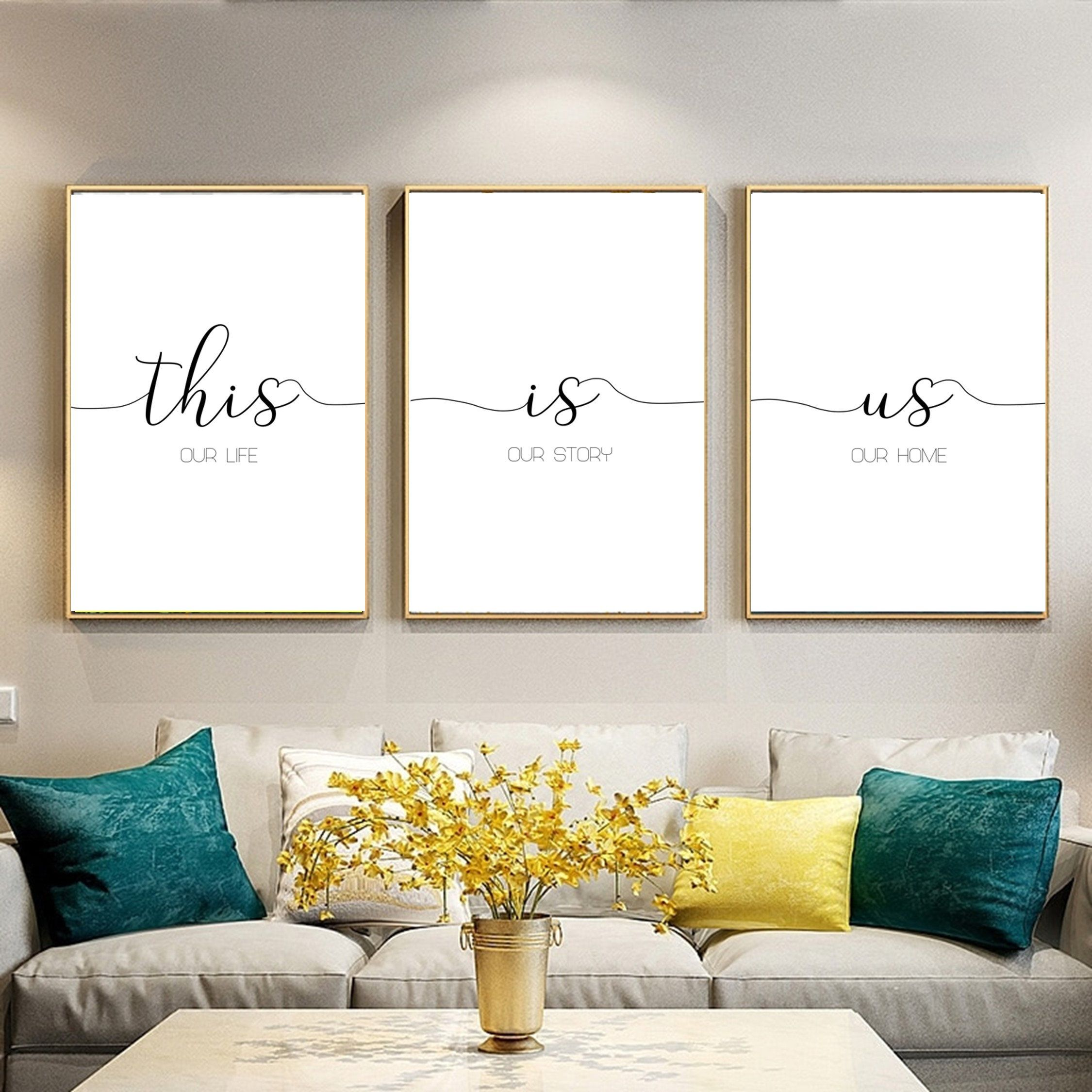 Prints Set Of 3 This Is Us Family Sign Family Quotes Home Decor Living Room Wall Decor Living Room Modern Living Room Decor Cozy Printable Wall Art Living Room