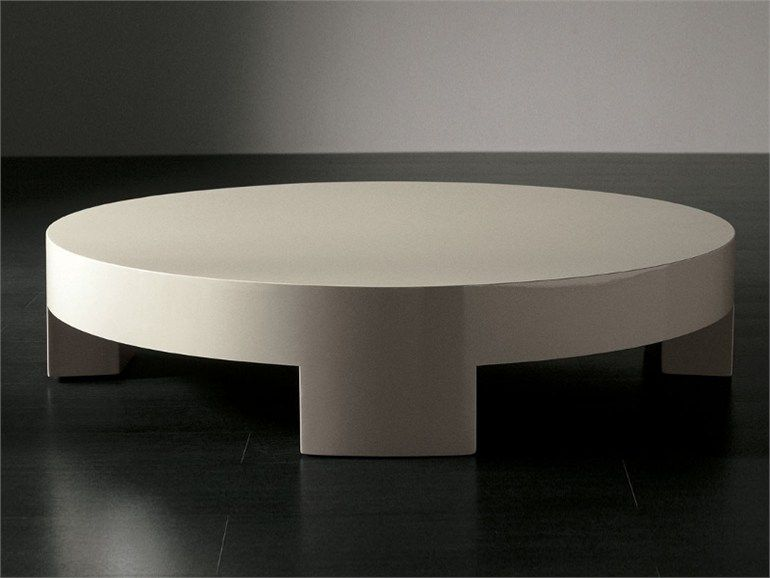 Low Round Coffee Table Sumo By Meridiani