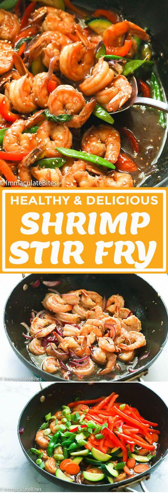 Shrimp Stir Fry #healthystirfry