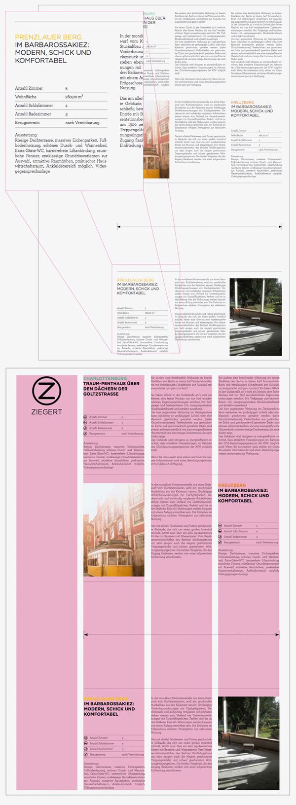 Ziegert immobilien ci by thomas weyres layouts pinterest