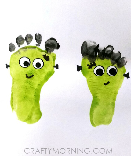 Footprint Mummies (Kids Halloween Craft) - Crafty Morning