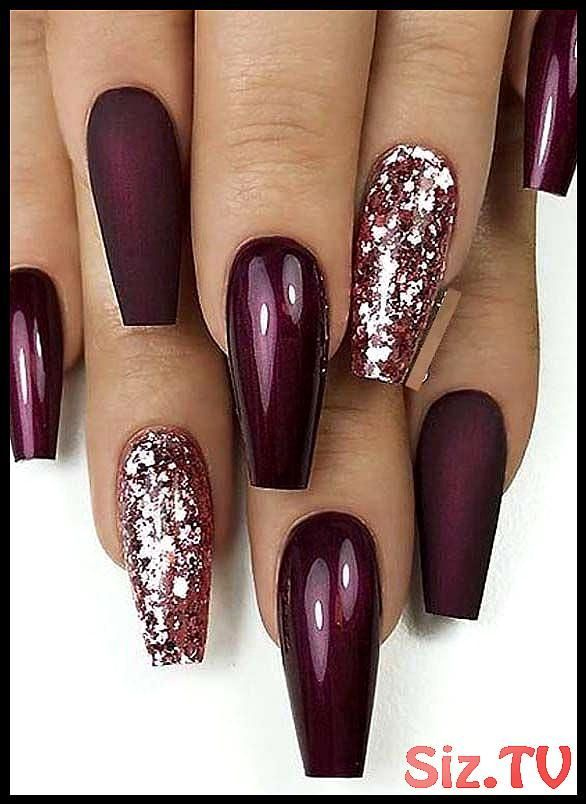 25 gt Fantastic Matte amp Glossy Long Coffin Nail Designs in 2019 25 gt Fa… – …