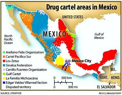 Cartel Land 5 Mexican Drug Cartels Map Lg