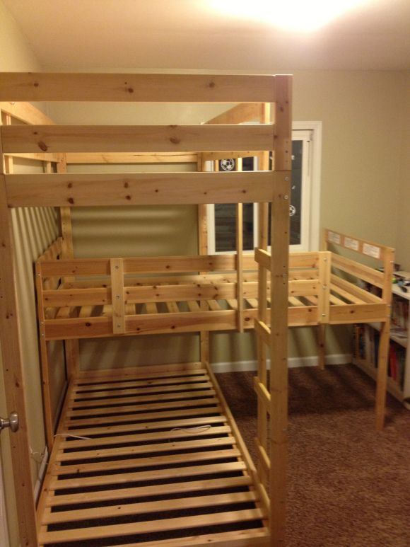 an update and building a triple bunk bed projects for him. Black Bedroom Furniture Sets. Home Design Ideas