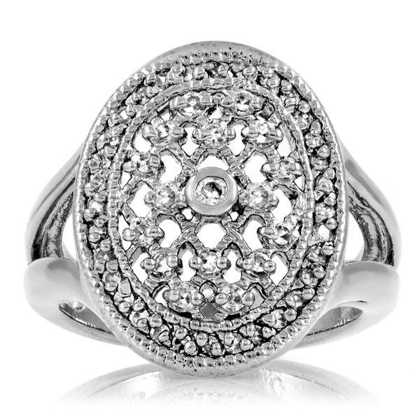 Leevas CZ Diamond Vampire Fantasy Wedding Ring Sterling Silver