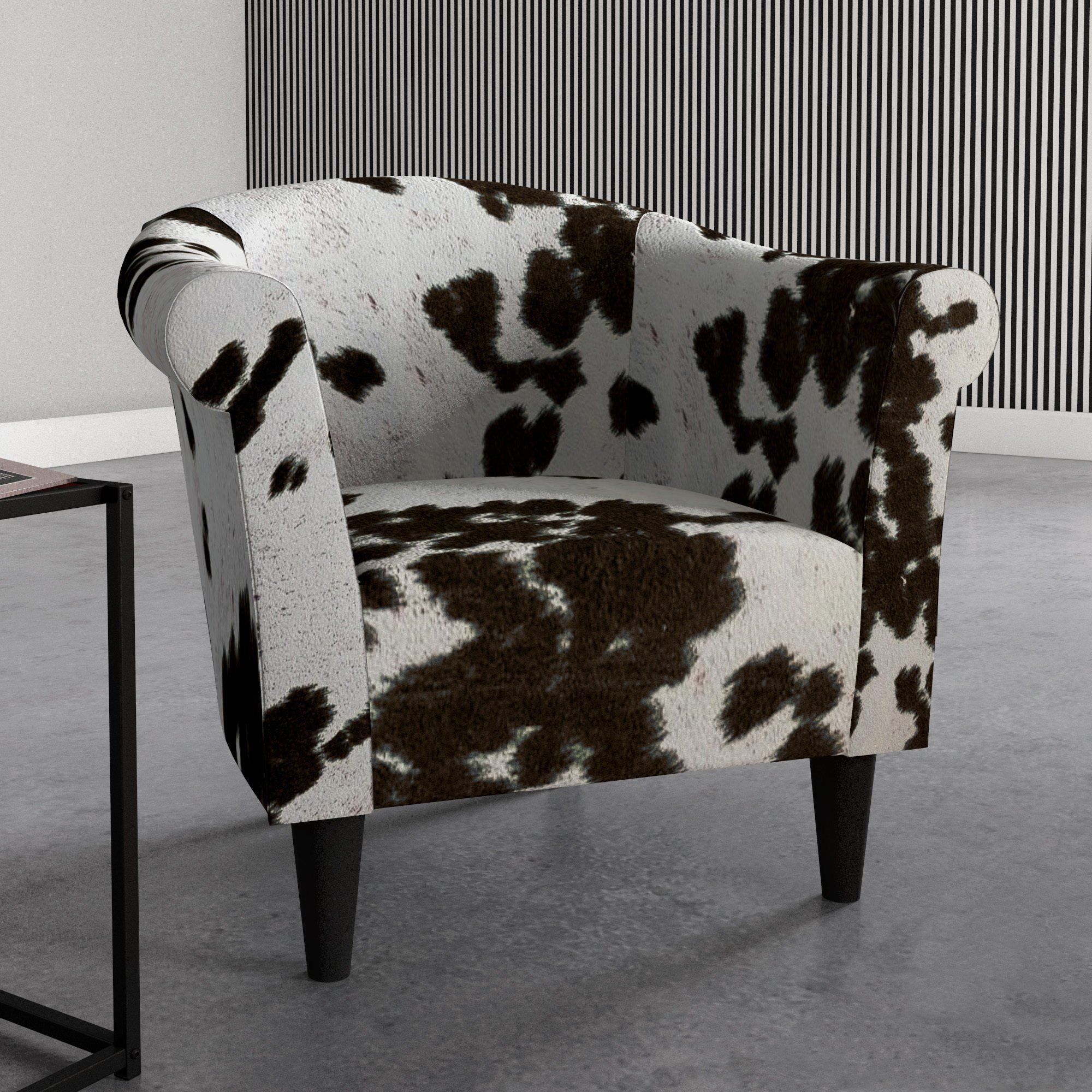 The Gray Barn Goddard Cowhide Print Accent Chair In Black As Is Item Black Printed Accent Chairs Furniture Sale Cowhide Print