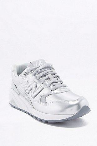 pretty nice 307e4 ecd91 New Balance 580 Metallic Silver Trainers | Footwear | Shoes ...