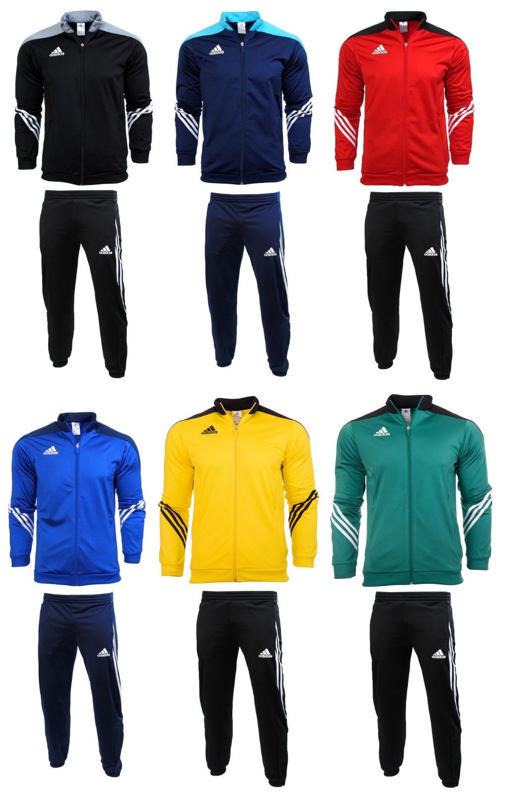 5936e6788f38 Adidas Sereno Junior Boys Kids Full Zip Tracksuit Top Jogging Bottoms  Football