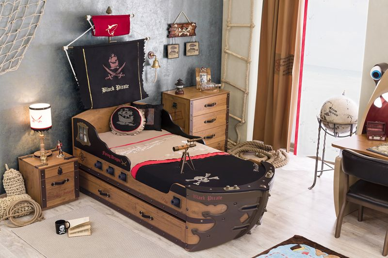 Cilek Black Pirate Piratenschiff Ii Kinder Zimmer Kinderzimmer Mobel Diy Kinderbett