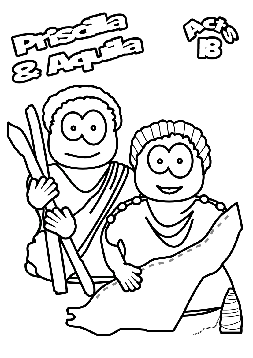 aquila and priscilla coloring page google search
