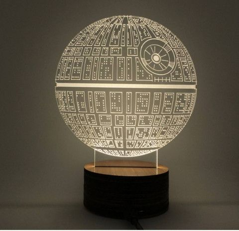 star wars death star hologram 3d light table desk led lamp engraving night light home decor. Black Bedroom Furniture Sets. Home Design Ideas