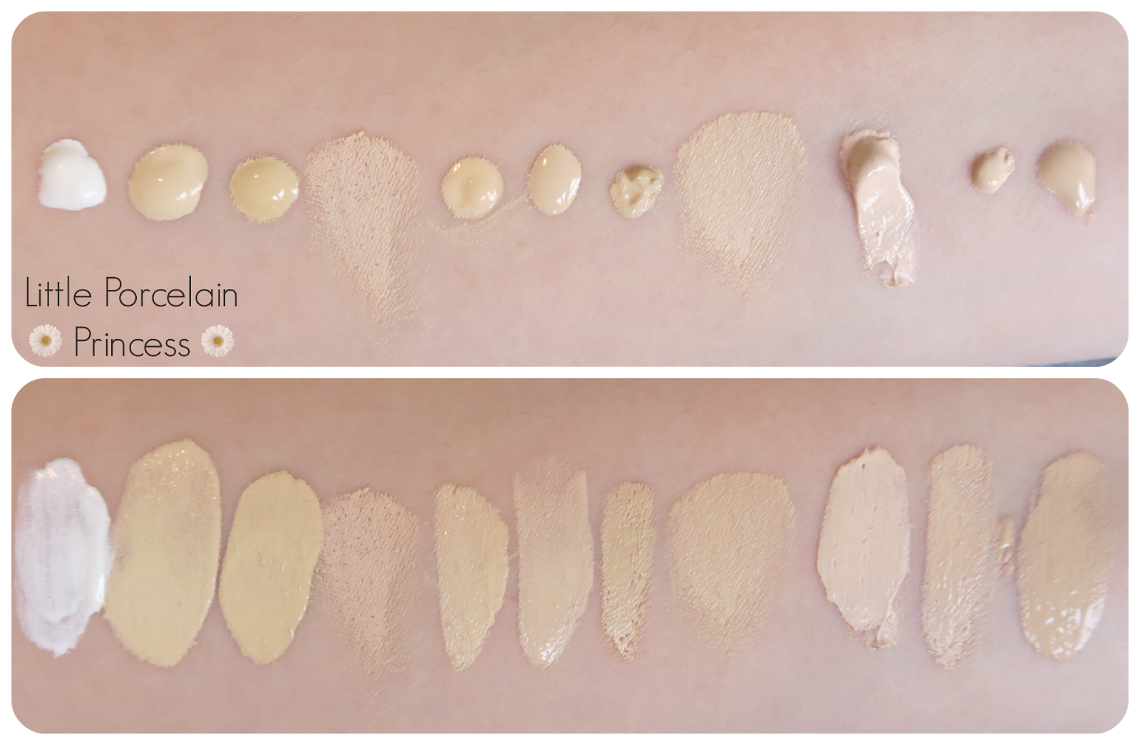 Foundation Swatches For Yellow Olive Toned Pale Skin Face In 2019