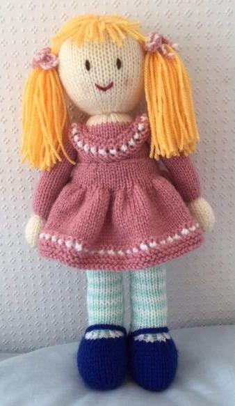 Hand knitted doll | Amigurumi, Puppe und Puppen