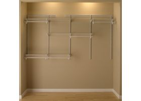 ShelfTrack 5 Ft To 8 Closet Organizer Kit