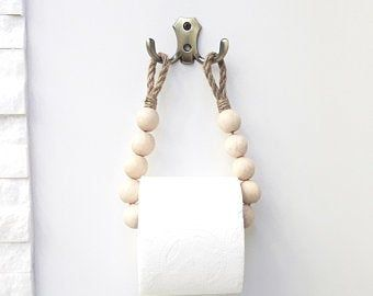 Photo of Rope Toilet Paper Holder. Eco-friendly. Rustic Paper Storage. Nautical Decor. Bathroom decor..