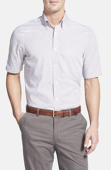 Nordstrom Regular Fit Check Short Sleeve Sport Shirt available at #Nordstrom