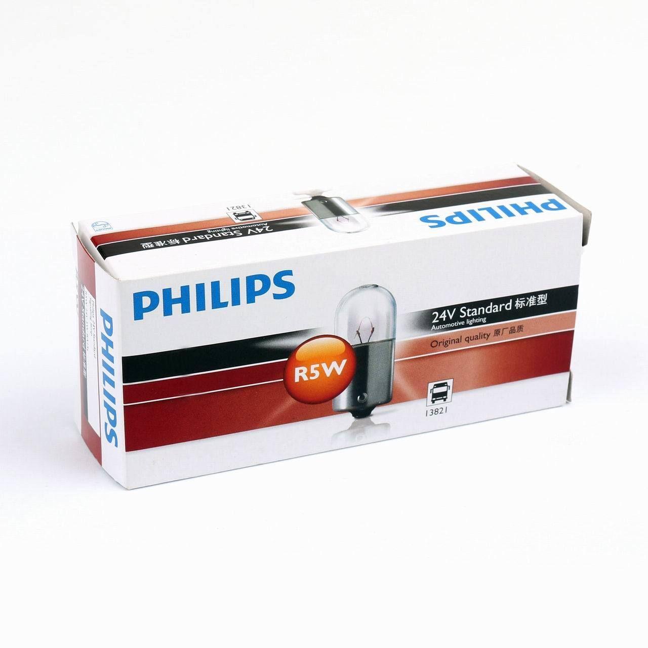 10pcs Genuine Philips 13821 R5w 24v 5w Ba15s Standard Signal Light Lamp Bulbs Lamp Bulb Lamp Light Bulb