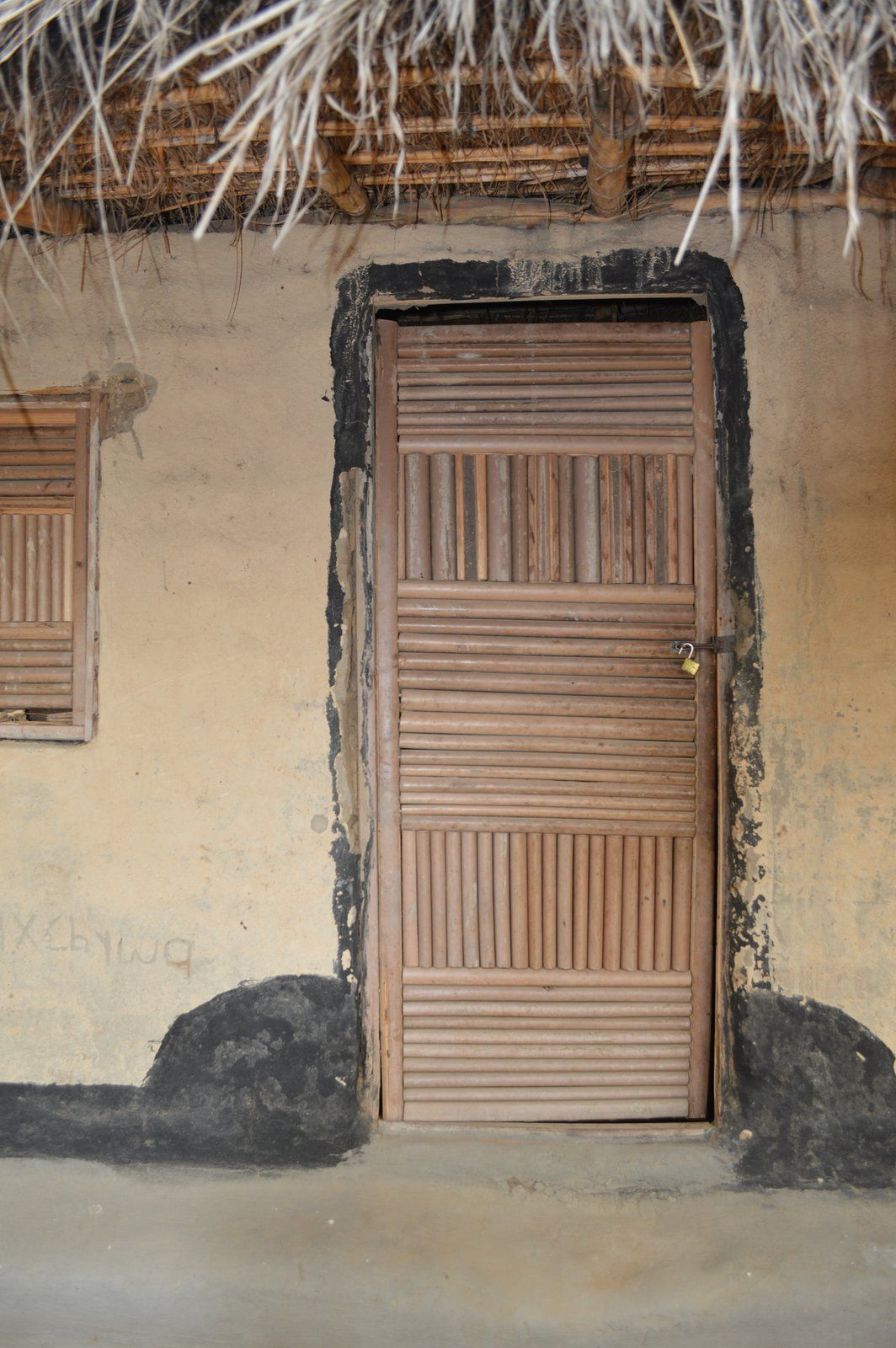Door Made From Bamboo In Chizogwe Village Malawi