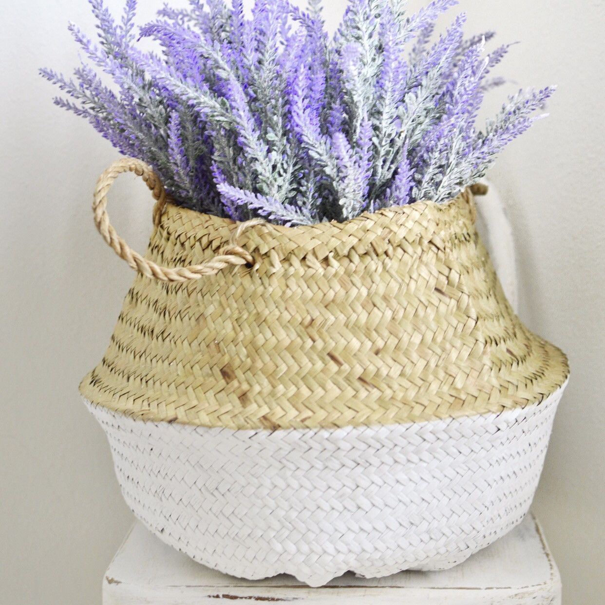 Seagrass Basket-White
