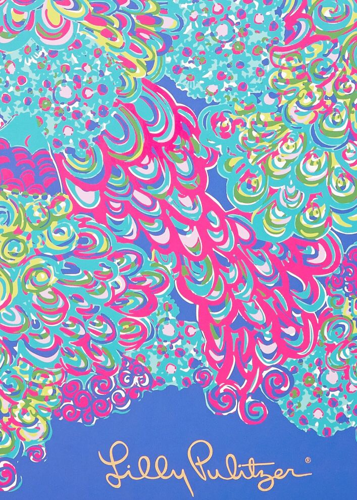 New 4040 Lilly Pulitzer Pattern Lilly's Lagoon Background My New Lilly Patterns
