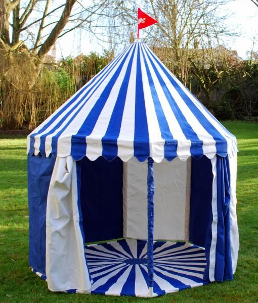 Childrens Large Circus Big Top Play Tent - Blue / White - EarlyWhirly - The Best & Childrens Large Circus Big Top Play Tent - Blue / White ...
