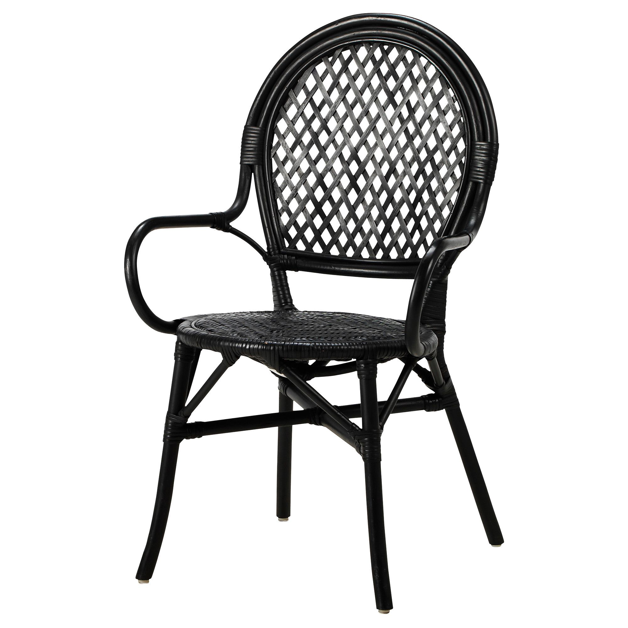 Charming IKEA ÄLMSTA Chair Rattan/black Each Piece Of Furniture Is Unique As It Is  Handmade.