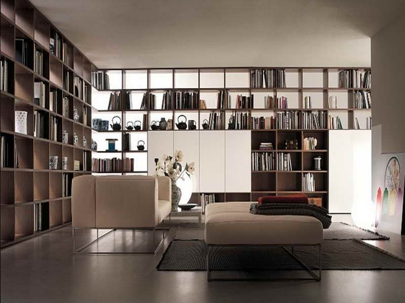 Contemporary Library Bookcase Plans Wall Unit Pinterest