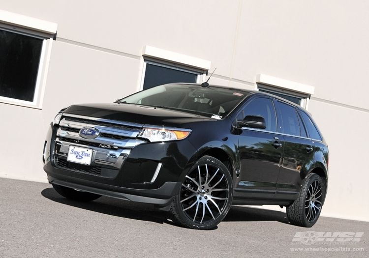 """2012 Ford Edge with 22"""" Giovanna Kilis in Machined Black"""