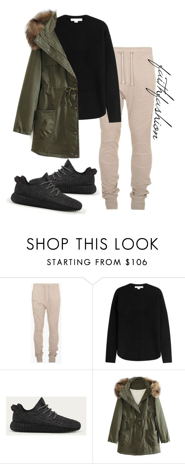 """Untitled #225"" by faithfashionash on Polyvore featuring Balmain, Alexander Wang, adidas and WithChic"
