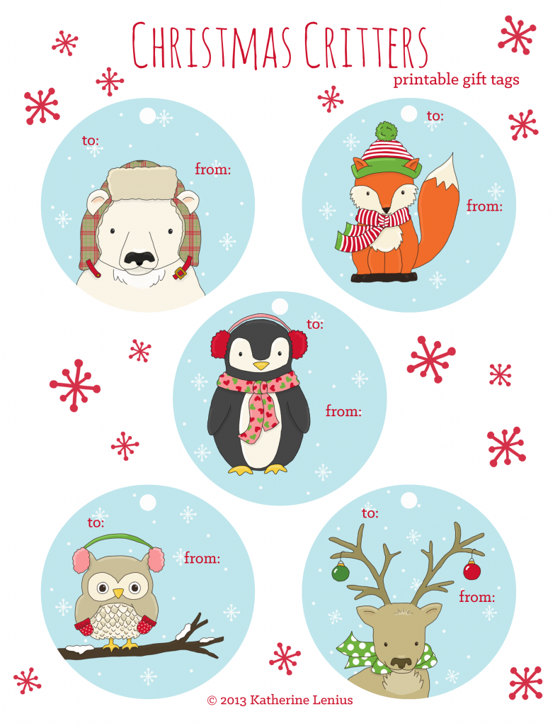 Christmas Critters Gift Tags Pinned by www.myowlbarn.com | SCRAP ...