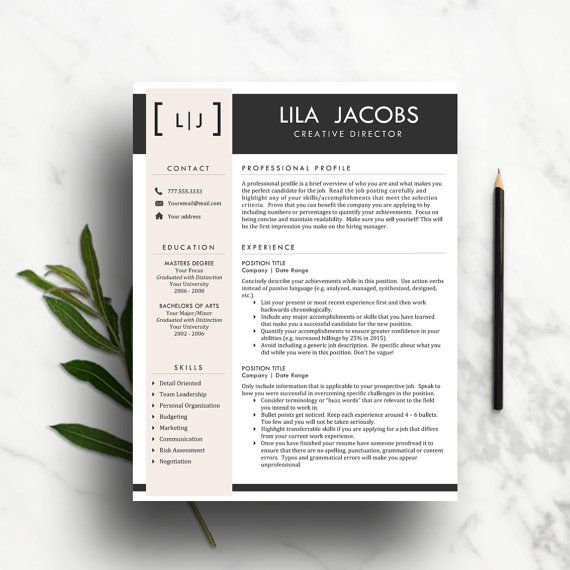 Creative Resume Template Classic Cv By Thewritestuffresumes  Hire