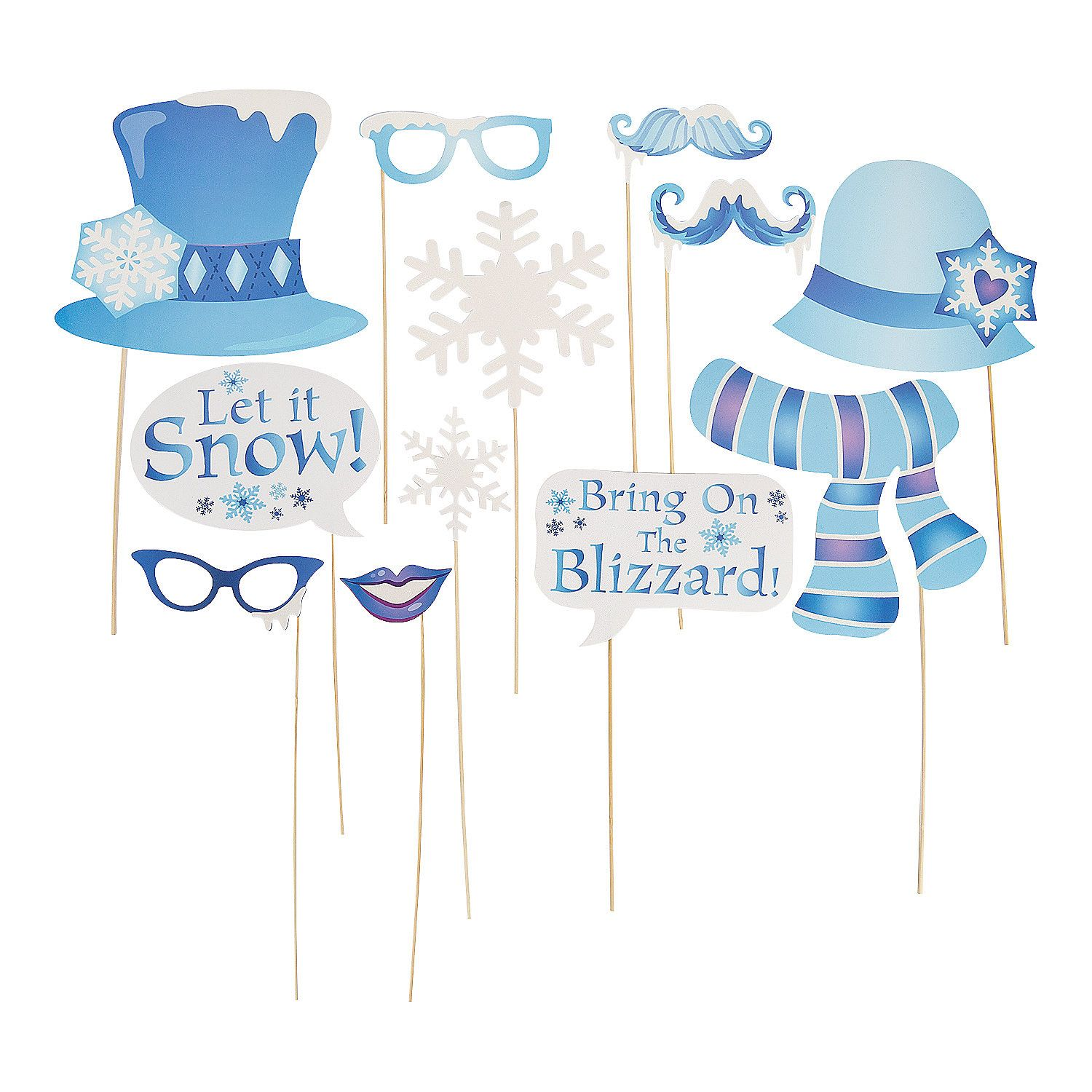 Winter Sparkle Photo Stick Props Liams First Birthday Winter