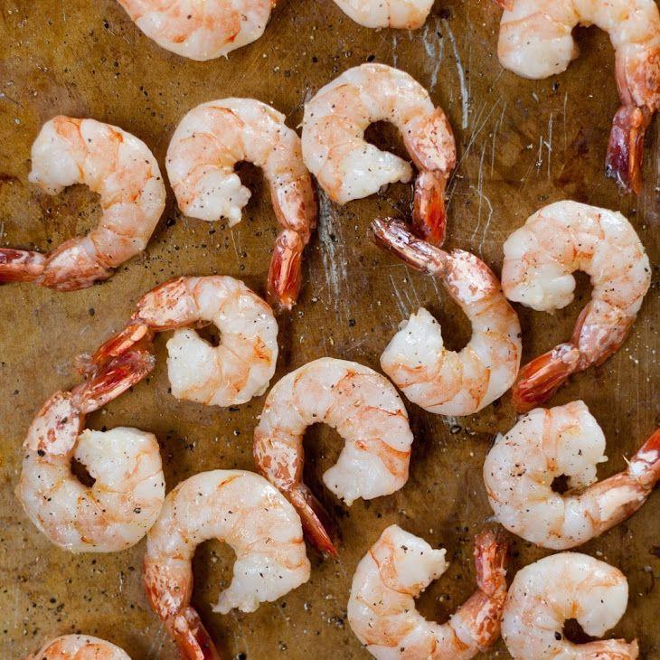 How To Roast Shrimp in the Oven Recipe with shrimp, extra-virgin olive oil, coarse kosher salt, ground black pepper