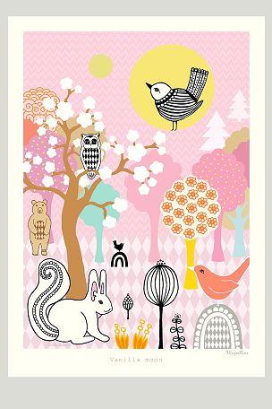 Majvillan Poster Vanilla Moon Plakater Bornevaerelse Billeder