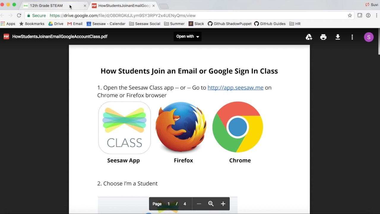 Creating Your Class in Seesaw (Email / Google Student Sign