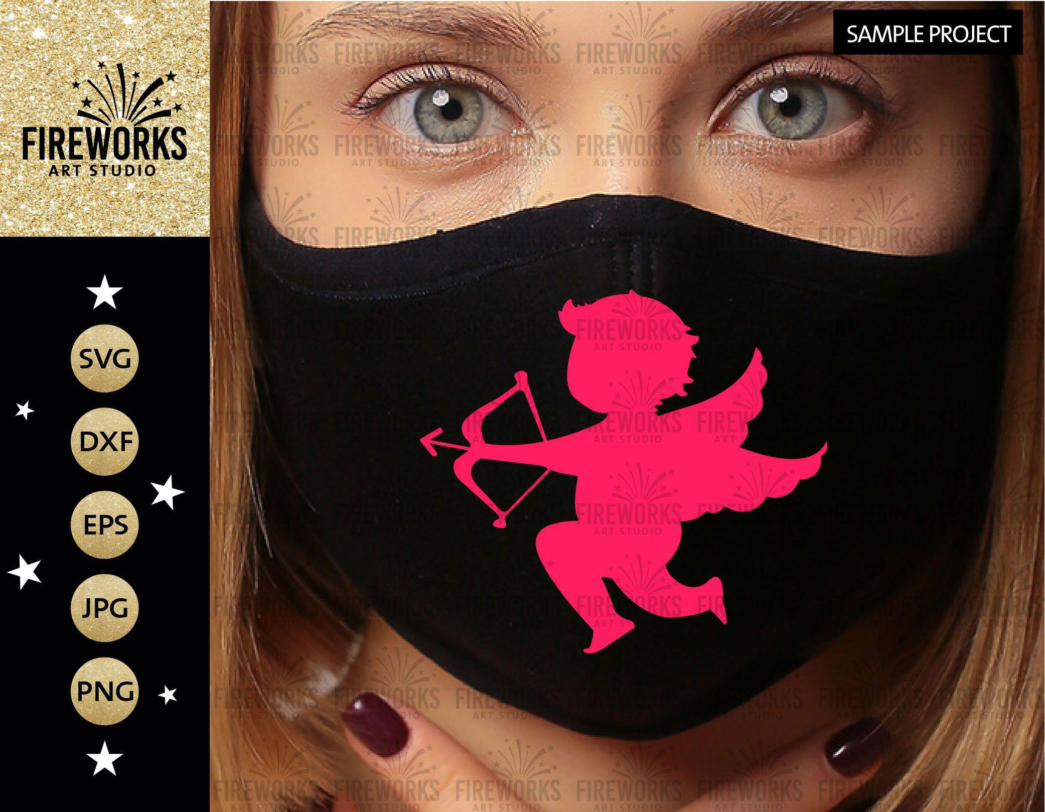Vector Face Mask Cupid SVG downloaded de FireWorksArt en