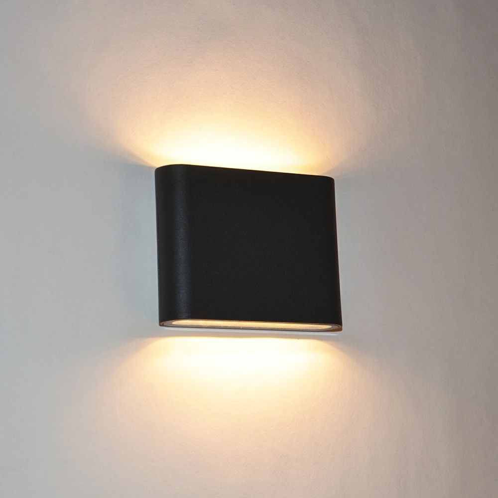 Hervorragend SKAPETZE - Semi / Superflache LED Aussen-Wandleuchte 3 cm Up&Down  PD84
