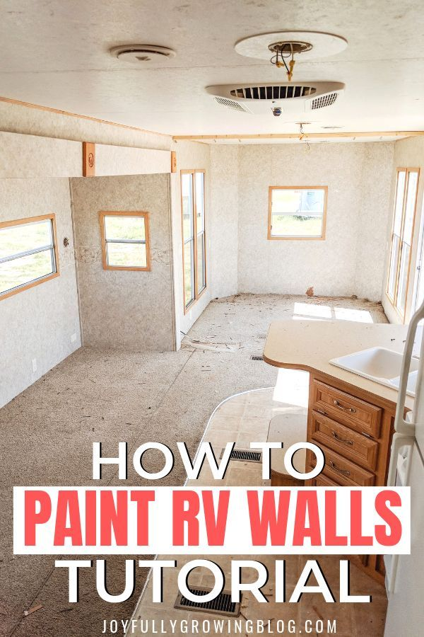 How to Paint RV Walls | A Helpful Guide With Pictures