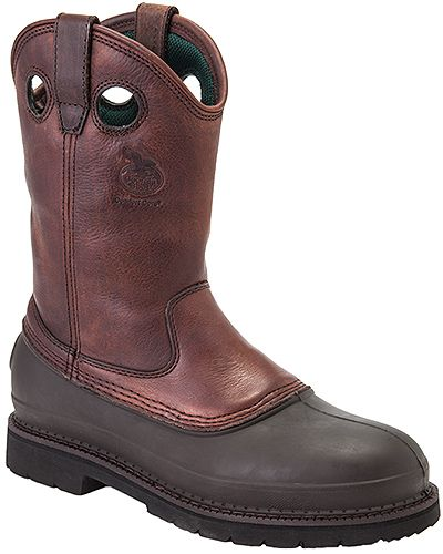 Georgia Boots G5655 - Georgia Men's 12 Inch Comfort Core(r) Steel Toe Pull On Mud Dog   Style