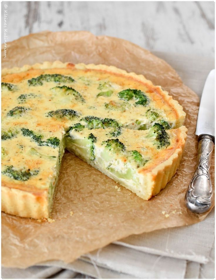 Brokkoli Quiche mit Gruyère - Kleines Kulinarium