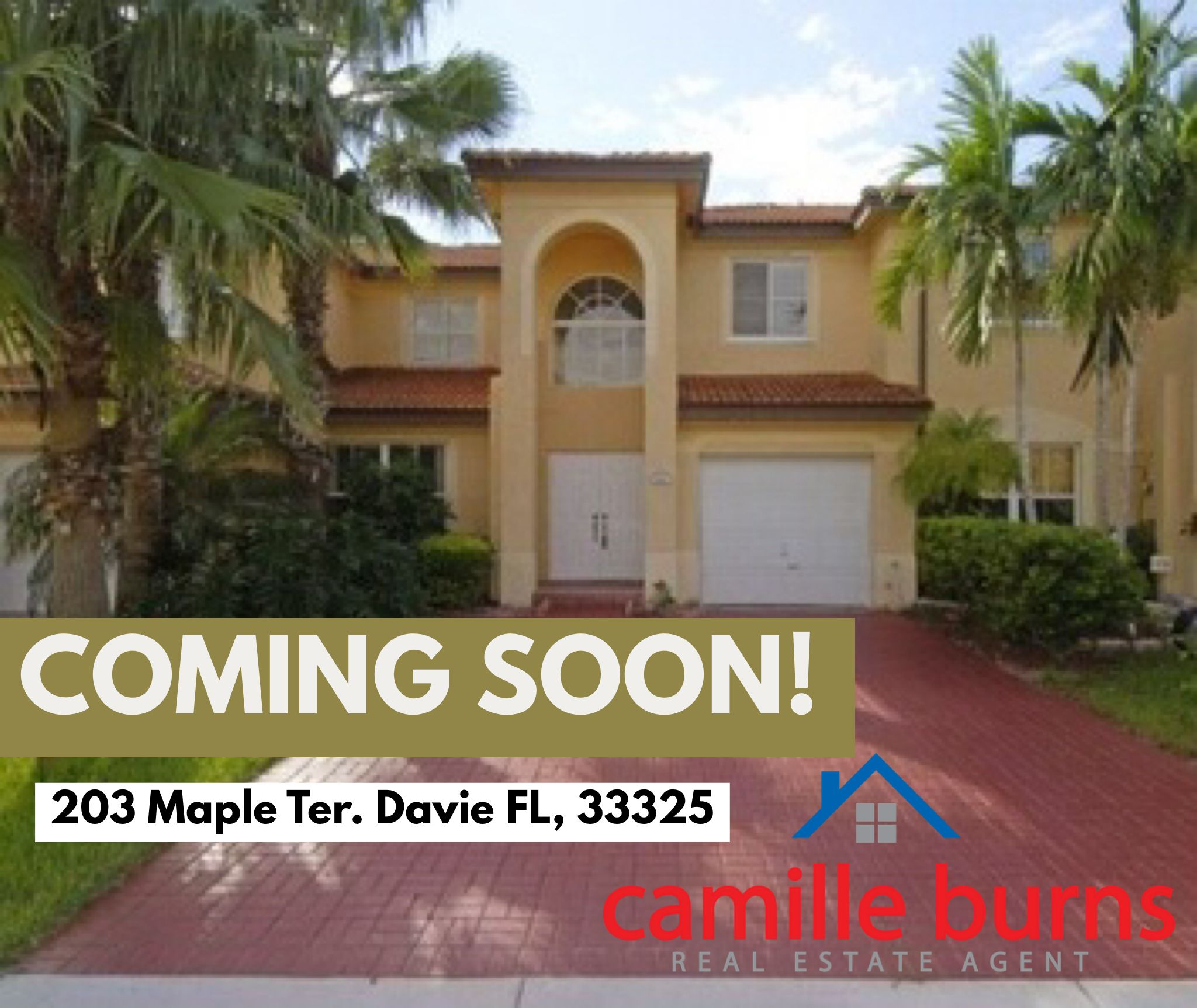 Coming Soon Pionciana Parc In Davie Fl 3 Bed 2 Bath Townhome With A One Car Garage Listed For 310 0 South Florida Real Estate Davie Fl Real Estate Agent