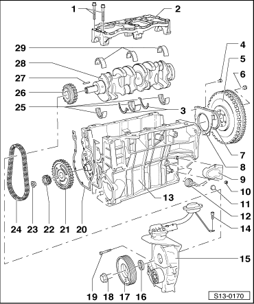 Skoda Workshop Manuals > Octavia Mk1 > Drive unit > 1.4