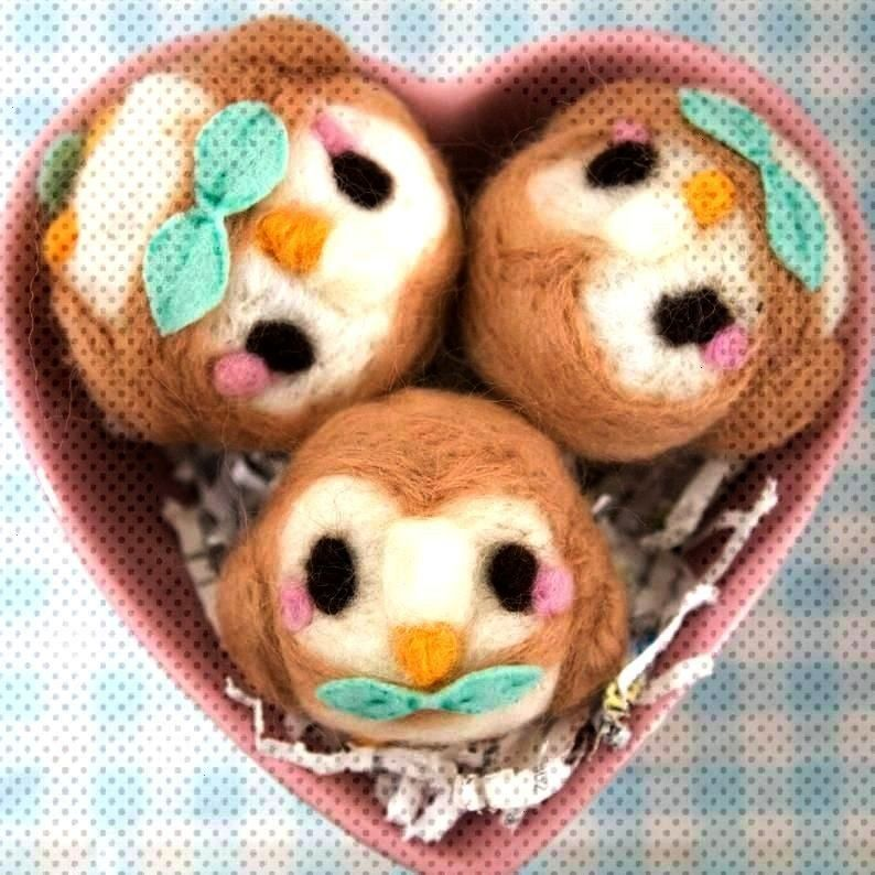 Rowlets made by Larissa Lapin -Needlefelt Rowlets made by Larissa Lapin -Needlefelt Rowlets made...