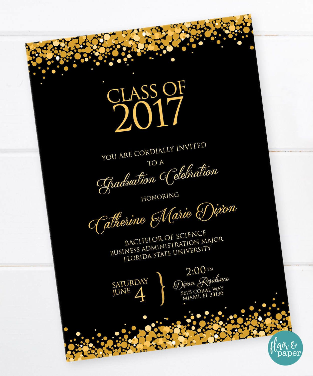 graduation invitation  graduation celebration  college graduation  high school graduation