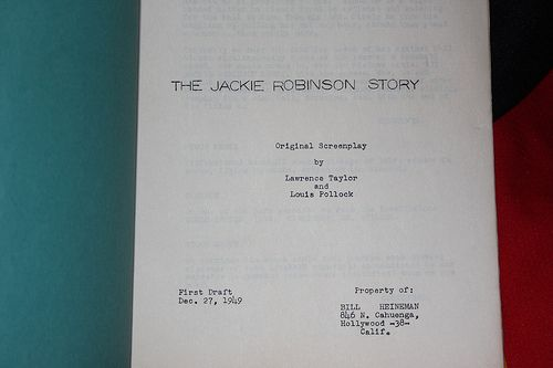 jackie robinson story movie script title page unscripted