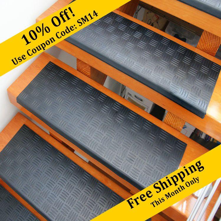 Best Diamond Grip Rubber Stair Tread Stair Treads Flooring 400 x 300