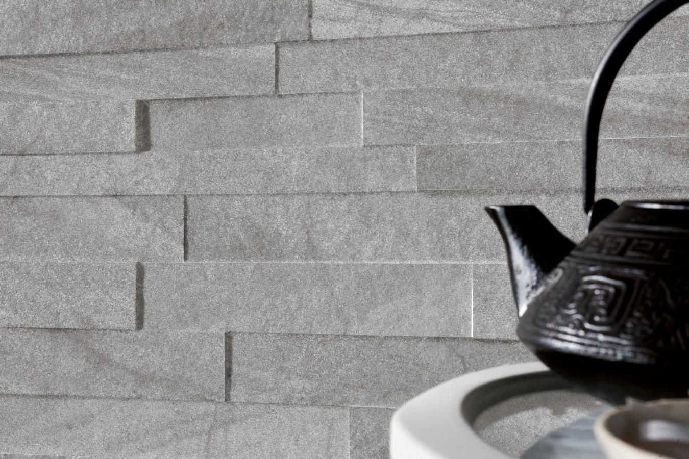 Stockholm piastrelle effetto pietra muretto grau spaccatella