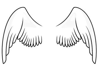 Coloring Page Wings Img 20666 Angel Wings Clip Art Angel Wings Pictures Cartoon Angel Wings