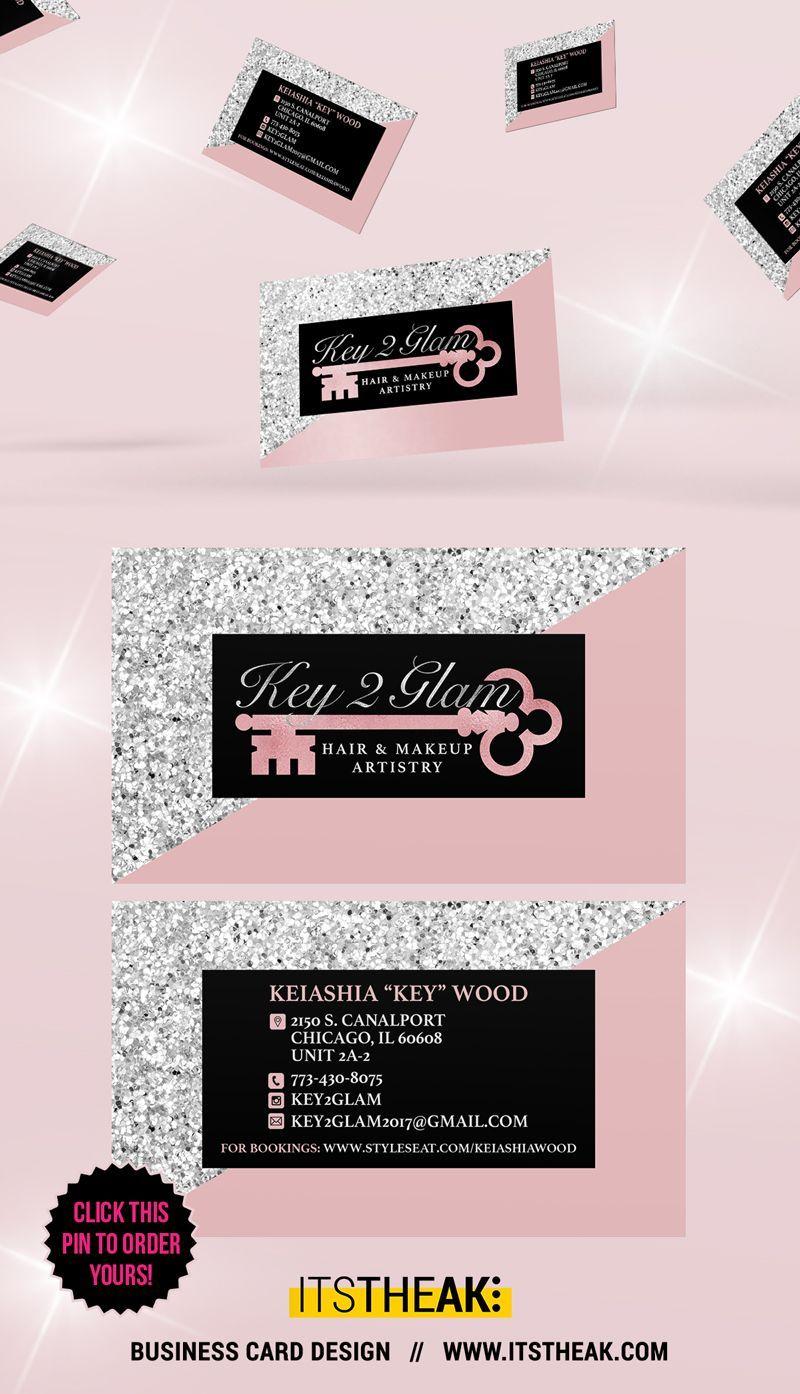 Business Cards Premium Premade Designs Itstheak Cosmetic Business Cards Hair Logo Design Business Card Design